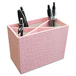 Aurora Metal/Wood PROformance Pencil Cup, 5 3/10 x 2 x 4 1/8, Pink