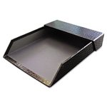 Aurora Letter Tray w/Roof, Heavy Duty, 12/CT, Black