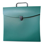 Aurora File N Go Portable File Box, Letter, Green