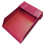 Aurora ProFormance Crocodile Memo Tray for 4 x 6 Notes, Red