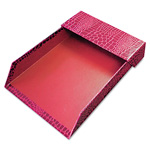 Aurora ProFormance Letter Tray, Crocodile Pattern, Red, With Roof