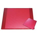 Aurora Eco-Friendly Croc Embossed Desk Pads and Mouse Pads, 24 1/2 x 19, Red