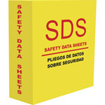 "Aurora D-Ring MSDS-2 3.0"" Binder, Yellow"