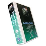 "Aurora Earthview 1 1/2"" View Binder, White"