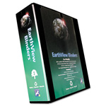 "Aurora Earthview 3"" View Binder, Black"
