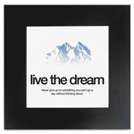 "Aurora Motivational Poster, Dream, 20""x20"", Black"