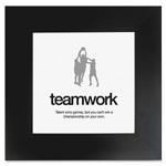 "Aurora Motivational Poster, Teamwork, 20""x20"", Black"