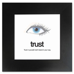 "Aurora Motivational Poster, Trust, 15-1/2"" x 15-1/2"", Black/White"