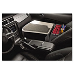 AutoExec Car Desk with Writing Surface and Supply Organizer, Gray