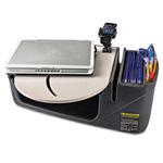 AutoExec Car Desk with Laptop Mount, Supply Organizer, Gray