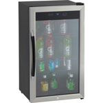 Avanti Products Avanti, Beverage Cooler, 3.1CF, Glass Door, BK/SR