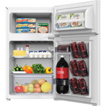 "Avanti Products Counter High Refrigerator/Freezer, 18-3/4"" x 19-3/4"" x 33-1/2"", White"