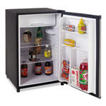 Avanti Products 4.5 CF Counterhigh Refrigerator - Black w/Stainless Steel Door