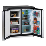 Avanti Products 5.5 CF Side by Side Refrigerator/Freezer, Black/Stainless Steel