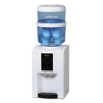 Avanti Products ZeroWater Dispenser with Filtering Bottle, 5 gal, Clear/White/Blue