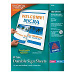 "Avery Durable Sign Sheets, 8.5"" x 11"""