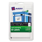 Avery Professional Grade Self-Laminating ID Labels, 3 3/4 x 5 3/4, White/Gray, 4/Pack