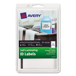 Avery Professional Grade Self-Laminating ID Labels, 3 3/4 x 2 3/4, White/Gray, 8/Pack