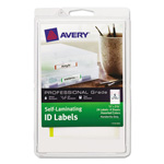 Avery Professional Grade Self-Laminating ID Labels, 3 3/8 x 2/3, White/Asst, 24/Pack