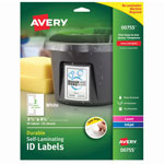 Avery Durable Self-Laminating ID Labels, Laser/Inkjet, 3 x 4 1/2, White, 50/Pack