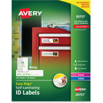 Avery Durable Self-Laminating ID Labels, Laser/Inkjet, 3/4 x 3 1/4, White, 250/Pack