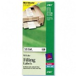 "Avery Filing Labels, Permanent, 300 Ct, 2/3""x3 7/16"", White"