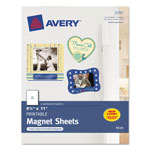 "Avery Magnet Sheets, 8 1/2""x11"", White, Pack of 5"