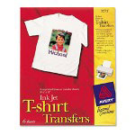 "Avery T-shirt Transfers for Inkjet Printers, 8 1/2""x11"", Pack of 6"
