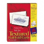 "Avery Half Fold Cards, Textured, Card Size 5 1/2""x8 1/2"", White"