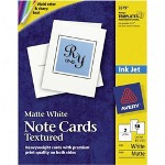 "Avery Note Cards, Textured, Card Size 4 1/4""x5 1/2"", White"