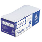 "Avery Pin Fed Labels, 1 Across, 4""x1 5/16"", 5000 per Pack, White"