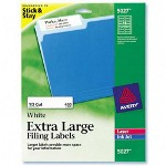 "Avery Extra Large Filing Labels, 15/16""x3 7/16"", 450/Pack, White"