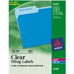 "Avery Filing Labels, 2/3""x3 7/16"", 450/Pack, Clear"