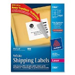 "Avery Laser Labels, Mailing, 3 1/3""x4"", 600/BX, White"