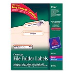 Avery Permanent Printer Filing Labels, 1/3 Cut, 750/Pack, Orange