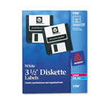 "Avery Permanent Laser/Inkjet Labels, 3 1/2"" Disk, 630 per Pack, White"
