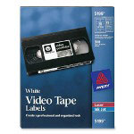 Avery Video Tape Laser/Inkjet Labels, 300 Face/300 Spine, White
