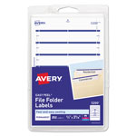 "Avery Self Adhesive File Folder Typewriter Labels, 3 7/16""x1 5/16"", Dark Blue, 252 per Pack"