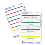 "Avery Self Adhesive File Folder Typewriter Labels, 3 7/16""x1 5/16"", Assorted, 252 per Pack"