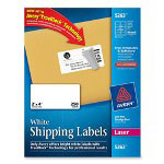"Avery Laser Labels, White, Mailing, 2""x4"", 250 per Pack, White"