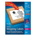"Avery Laser Labels, White, Full Sheet, 8 1/2""x11"", 25/BX, White"