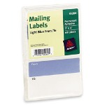 "Avery ""TO"" & ""FROM"" Typewriter Mailing Labels, 3 x 4, Light Blue/White, 60 per Pack"