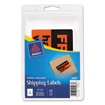"Avery Special Message 3""x5"" Labels Printed "" Fragile, "" Black/Red Neon, 40 per Pack"