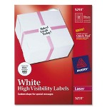"Avery Small Round Laser Labels, 1 5/8"" Diameter, 600/Pack, White"