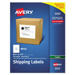 "Avery Copier Label, Full Sheet, 8 1/2""x11"", 100/BX, White"
