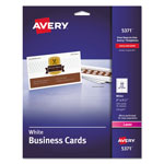 "Avery Business Card, Laser, 2""x3 1/2"", 250 per Pack, White"