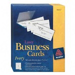 "Avery Business Card, Laser, 2""x3 1/2"", 250/Pack, Ivory"