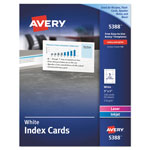 "Avery Laser/Inkjet Index Card, Perforated, 3""x5"" 150 per Pack; White"