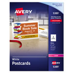 "Avery Laser Postcards, Perforated, 4""x6"", 100 per Pack, White"