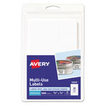 "Avery Self Adhesive White Removable Labels, Rectangular, 5/8""x7/8"", 1000 per Pack"